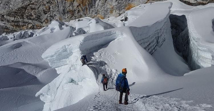 Ascensión al Island Peak, nepal.